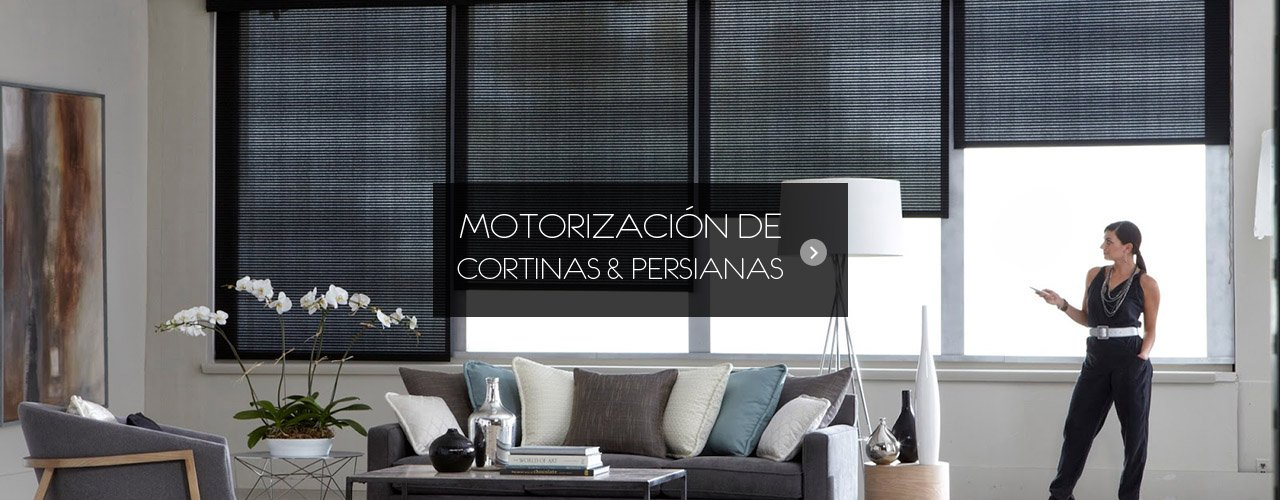 Persianas y Cortinas Motorizadas